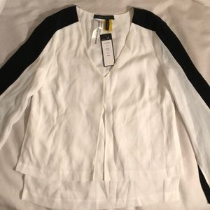BCBG Thick Long Sleeve Blouse